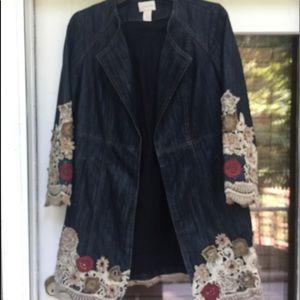 🌹BOGO🌹equal or lesser value CHICO'S jean jacket